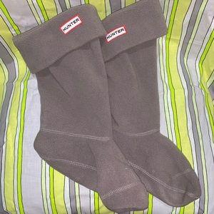 Gray Hunter Fleece Welly Sock Liners Girls 4 5 6